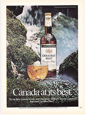 Original Print Ad-1973 IMPORTED CANADIAN MIST WHISKY-Margaree Forks, Nova Scotia