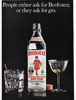 Original Print Ad-1973 People either ask for BEEFEATER or they ask for GIN-Nice