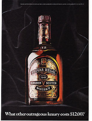 Original Print Ad-1976 CHIVAS REGAL-What Other Outrageous Luxury Costs $12.00?