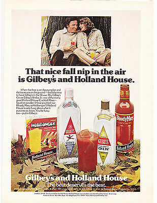 Original Print Ad-1976 GILBEYS & HOLLAND HOUSE-That Nice Fall Nip In The Air…
