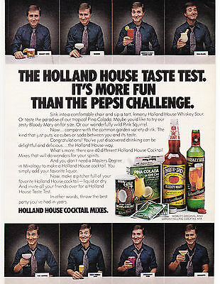 Original Print Ad-1977 HOLLAND HOUSE TASTE TEST-More Fun The The Pepsi Challenge