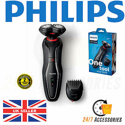 Philips S720/17 Mens Cordless Electric Click and Style Shaver / Beard Trimmer