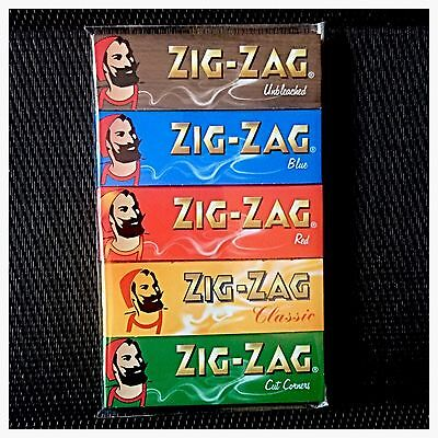 5Pk **variety Pack** Genuine Zig-Zag Rolling Papers (Standard Size)