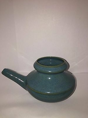 Vintage Neti Netty Pot Infant Feeder Pottery Turquoise Very Nice