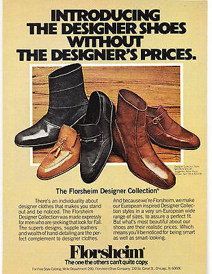Original Print Ad-1977 The Designer Shoes Without The Designer Prices-FLORSHEIM