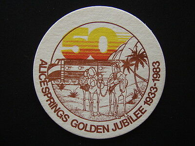 Alice Springs Golden Jubilee 1933-1983 Nt Draught The Cold One Coaster