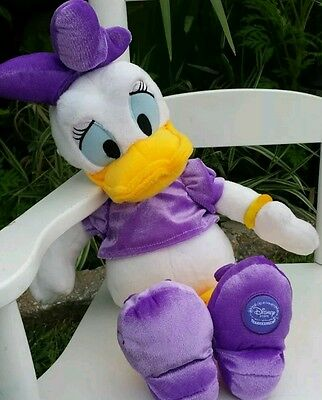 """Disney Store Plush Daisy Duck Mickey Mouse Club House 19""""  Stuffed Toy"""