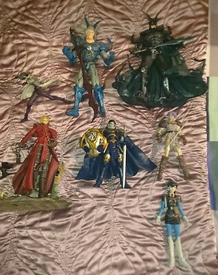 Selection of anime, manga and comic action figures all in good condition