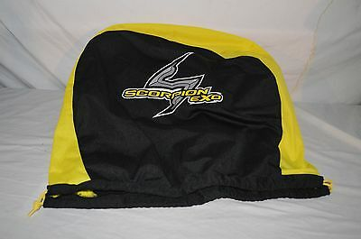 Scorpion EXO Helmet Bag NEW Black Yellow Fit All Size Helmets And Brands !!!!
