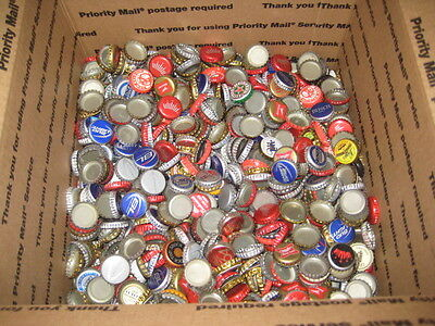 Lot Of 1000+ Beer Bottle caps,  Many Different Brands, Wide Variety