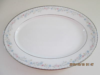 "Gorham SNOW ROSE Oval 14"" Serving Platter Mint"