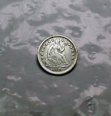 1856 Liberty Seated Silver Half Dime NICER Circulated US Obsolete Type 5c Coin