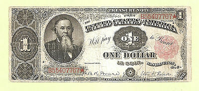 1891 $1 Treasury Note William Stanton FR 352 Scarce Collectible Note
