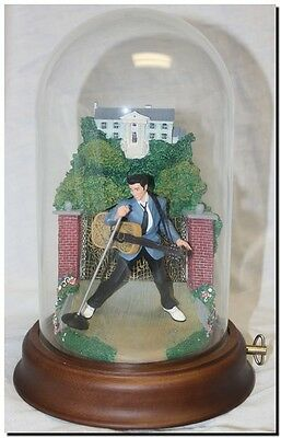"1993 Franklin Mint Elvis Presley *rare* ""love Me Tender"" Musical Dome Sculpture"