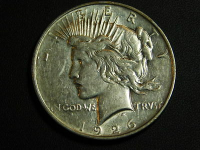 1926-D Peace Dollar~90% Silver~Great looking old U.S. Coin~