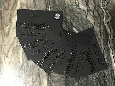 5 New Starbucks Special Edition Heritage Gift Cards Lot Recycled Paper