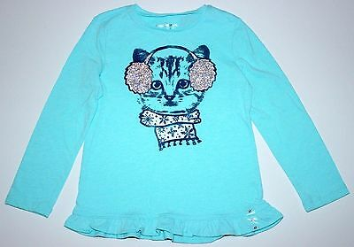 Girls Sz 4T Cat Shirt Long sleeved top New $16