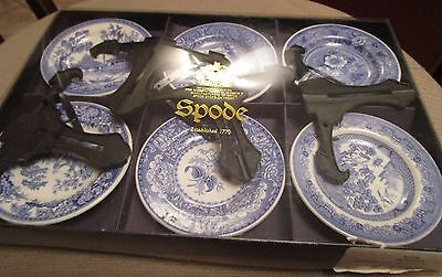 "Vintage Spode ""the Blue Room Collection"" Georgian Series Set Of 6 Mini Plates"