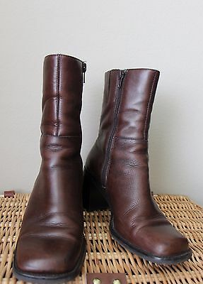 Women's Ankle boots size 6.5 Brown Leather