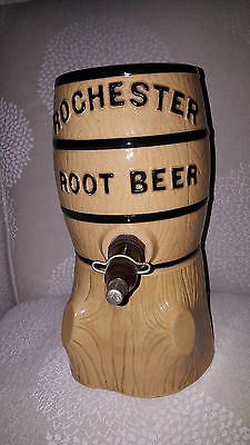 Vintage Rochester Root Beer Syrup Dispenser Soda Fountain Crock Barrel Very Nice