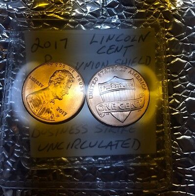 """(2) 2017 P Lincoln Cent Penny 225th Anniverary FIRST EVER """"P"""" MINT MARK ON CENT"""
