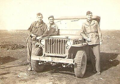 WWII Original US Army RP- ETO- Italy- Officer- Soldier- Named- Jeep- 1944