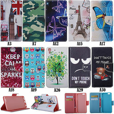 GX For Wiko Lenovo Samsung Asus Phone Luxury Wallet Card Leather Case Cover Skin