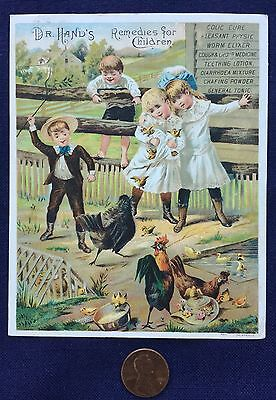 Dr. Hand's Remedies For Children, trade card dated 1886