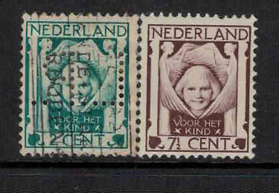 Netherlands 1924 child welfare mint & used