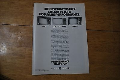 General Electric COlor TV 1974 Playboy Magazine ad - Excellent
