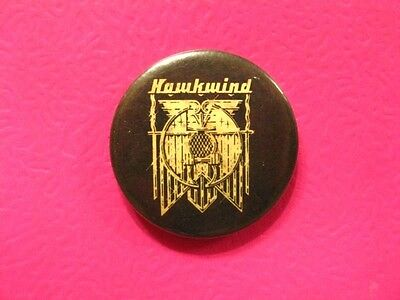 Hawkwind Vintage Button Badge Pin Uk Import
