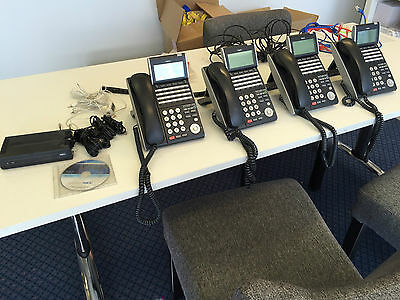 Office/Business NEC Telephone system with PabX and 4 phones