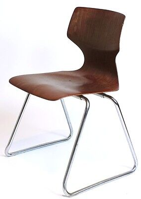 1 of 30 VINTAGE MID CENTURY  INDUSTRIAL GERMAN  STACKING  CHAIRS by FLÖTOTTO
