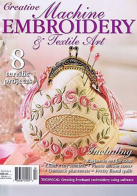 Machine Embroidery Textile Art Volume 19 No 4 Crewel Hand Bag Pincushion Pattern