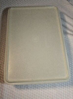 "Tupperware 290 291 Rectangular Cold Cut Keeper Veggie Cake 13"" X 9"" X 3"" Vintage"