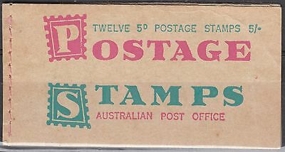 Australia - 5/- Stamp Booklet (2 stamps removed)