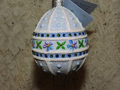 Patricia Breen Jeweled Blue Forget Me Nots Sublime Easter Egg