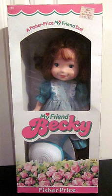 Vintage 1982 Fisher Price My Friend Becky Doll #218 with Box Red Hair
