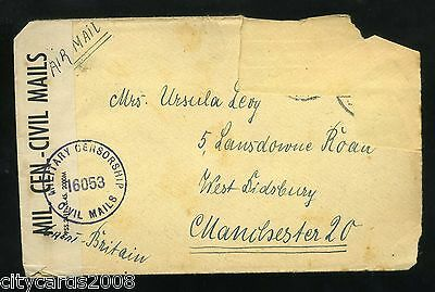 1946 MILITARY British Occupation Germany Anglo/USA Censorship Civil Mail Cover #