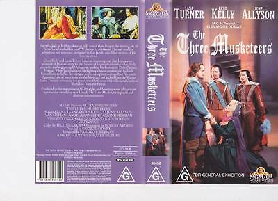 The Three Musketeers  Gene Kelly Vhs Video Pal~ Very  Rare Find~