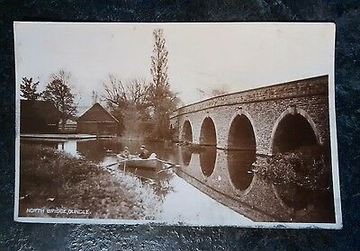North Bridge, Oundle. Posted 1920s. Real photograph postcard (RP).