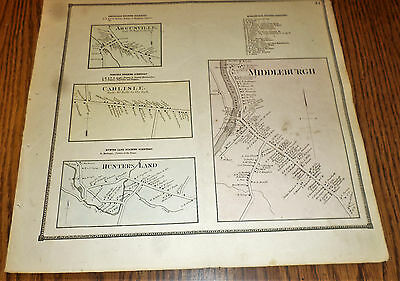 1866 Maps Middleburgh, Carlisle, Argusville, Hunters Land  Ny Schoharie Co