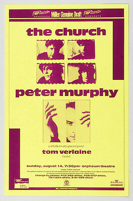 The Church Peter Murphy Orpheum Theatre 1988 Aug 14 Phone Pole Poster