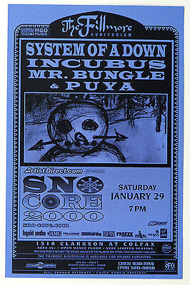 System of A Down Poster 2000 Jan 29 The Fillmore Denver