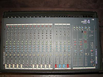Soundcraft Spirit Folio 4 2012 20 Channel Recording or Live Mixer in roadcase