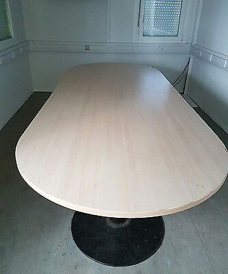 Large Conference Table Used Condition Wood Veneer 10ft x 4ft. Meeting room table