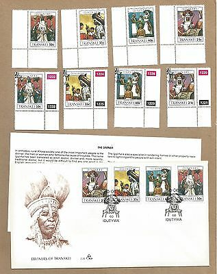 Transkei::3 FDC with Info Cards + 2 sets 4 (MNH and CTO). . (Ref 945)