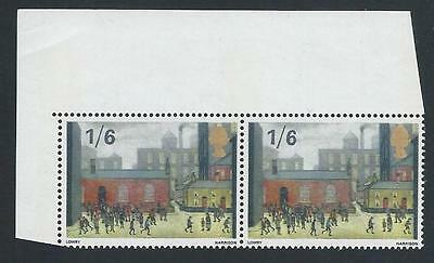 GB QEII Stamps. 1967 British Paintings. Lowry. 1/6d MNH