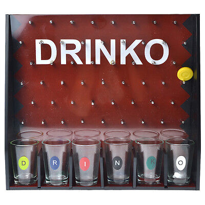 DRINKO Shot Adult Party College Beer Glass Liquor Drinking Alcohol Game Set