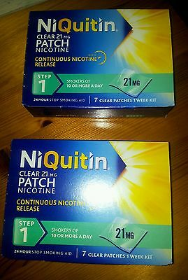 Niquitin patches 21mg step1 x 2 boxes